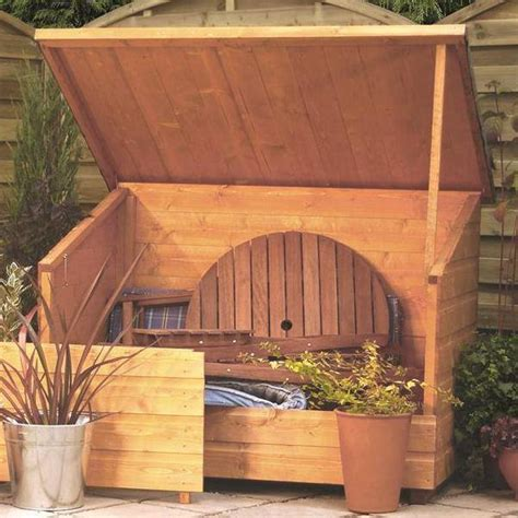 Wooden Garden Storage Rowlinson Wooden Garden Chest Storage Unit Garden