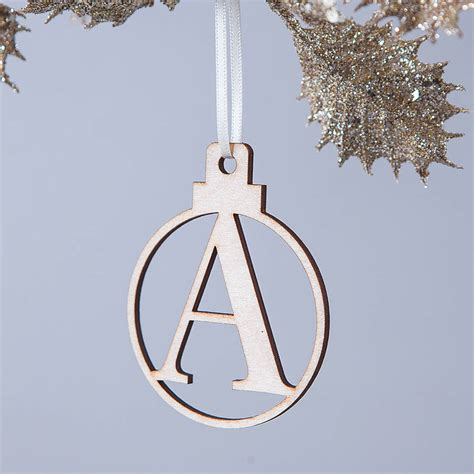 Letter Tree Decorations by Personalised Letter Bauble By Clouds And Currents Notonthehighstreet