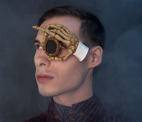 handmade wearable monocle art