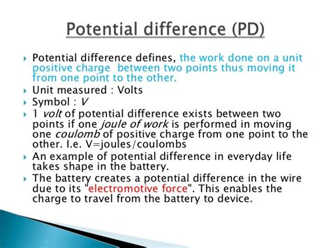 what is a definition of voltage current and resistance potential difference symbol images