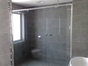 front only semi frameless shower screens finished