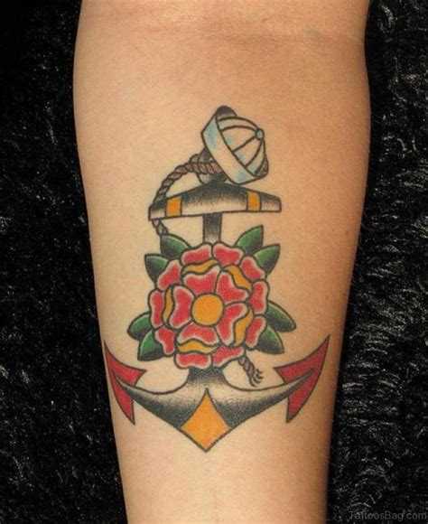 anchor tattoo with flowers 59 awesome anchor tattoos on arm
