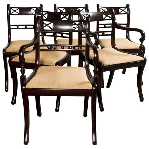 Regency Dining Room Furniture Set Of Six Regency Style Dining Chairs At 1stdibs