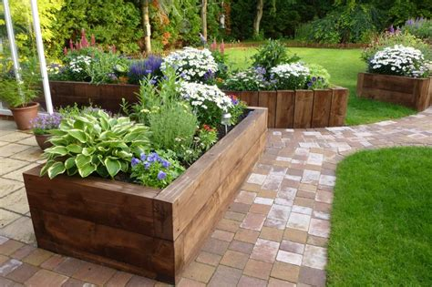 Raised Garden Beds Sleepers by Raised Beds From New Eco Pine Railway Sleepers