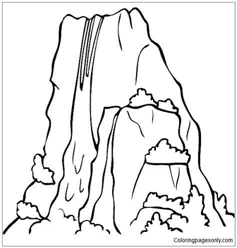coloring page of niagara falls niagara falls coloring page