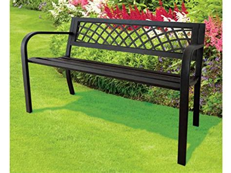 express trading black  seater metal garden outdoor