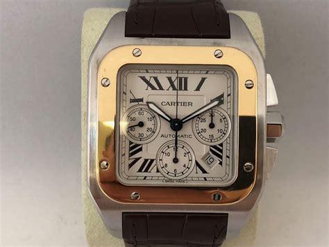 Cartier Santos 100xl cartier santos 100xl chronograph 2740 steel gold