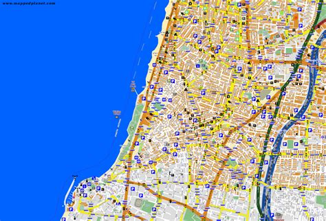 tel aviv map city maps tel aviv