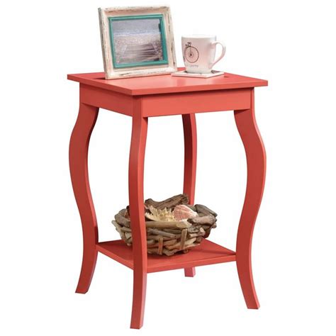 sauder harbor view table sauder harbor view side table in desert coral 420133