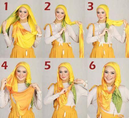 tutorial hijab segi empat simple buat lebaran til maksimal dengan tutorial hijab cantik untuk lebaran