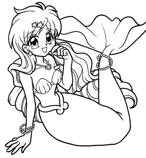 coloring pages mermaid melody picture 10