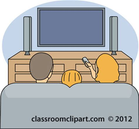free couch tv family clipart family watching tv 13112 classroom clipart