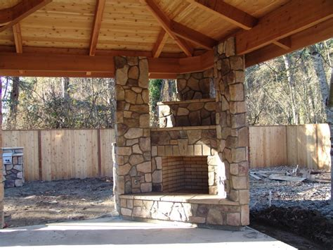 Backyard Masonry Ideas Outdoor Patio Ideas With Fireplace Outdoor Patio