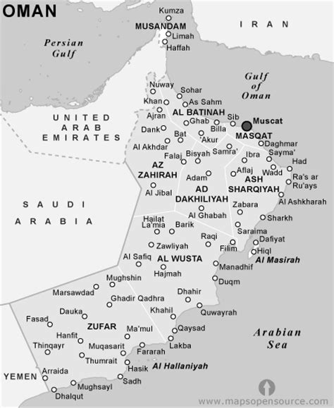 oman political map free oman political map black and white black and white