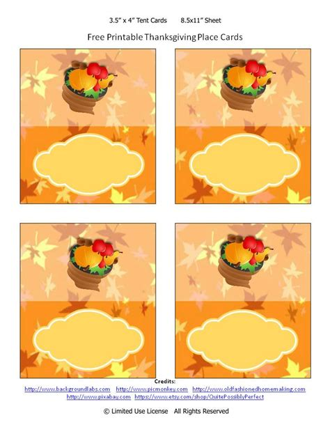 avery free thinkgiven card templates 6 best images of free printable thanksgiving placecards