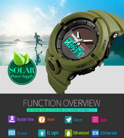 Jam Tangan Original Skmei Casio Sporty Analog And Digital Led Anti Air 1 jam tangan swiss army warna biru jualan jam tangan wanita