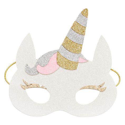 printable unicorn mask kids novelty unicorn mask glitter finish with soft felt