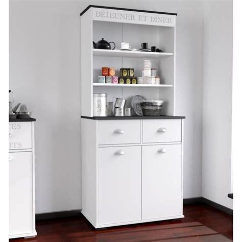 asfeld buffet de cuisine  cm blanc achat vente