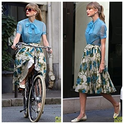 taylor swift begin again blouse mod spotting maude style