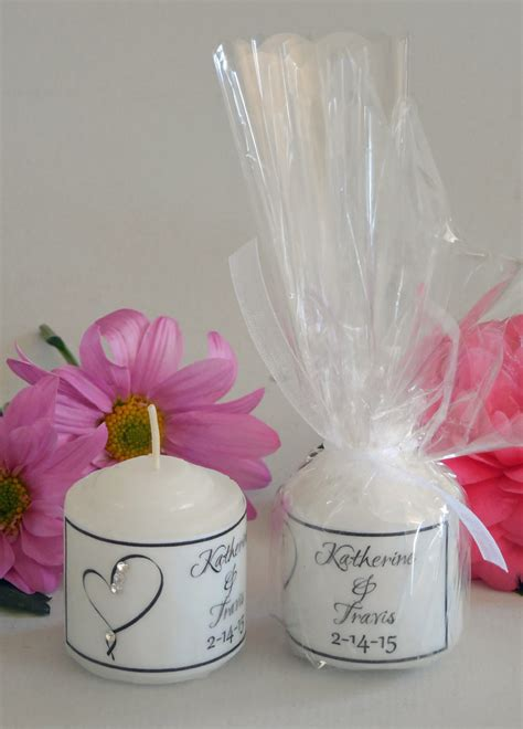 Wedding Favors Candles by Candle Wedding Favors