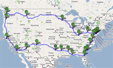 road trip planner map usa guide to planning an rv trip