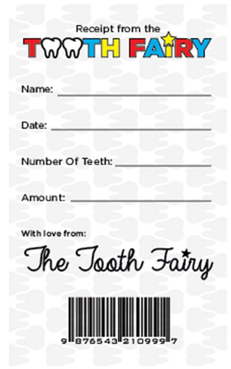 national tooth fairy day free printable receipt la