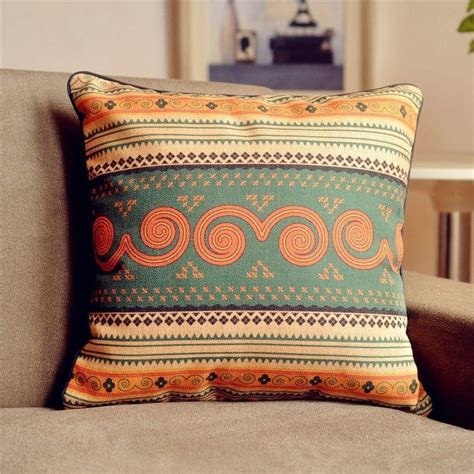 boho cushion cover bohemian pillow cover linen pillow