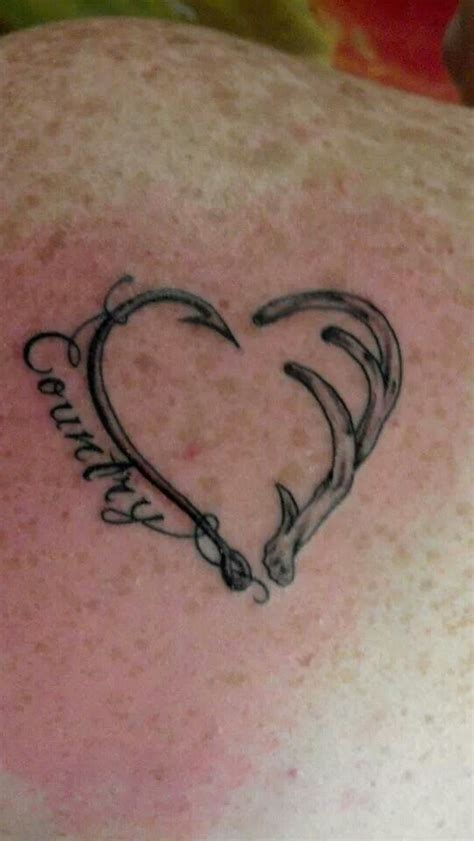 heartbeat hunting tattoo 32 best hook and deer horn tattoos images on pinterest