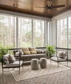 Three Season Porches Sunroom With Swinging Sofa Traditional Deck Patio