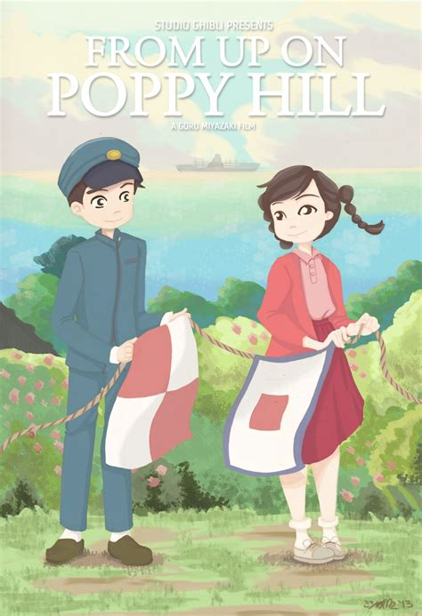 film de ghibli poster art by mishie del rosario from up on poppy hill