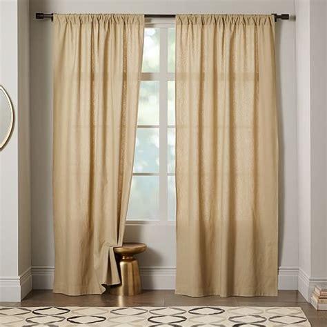 cotton curtains white linen cotton curtain stone white west elm