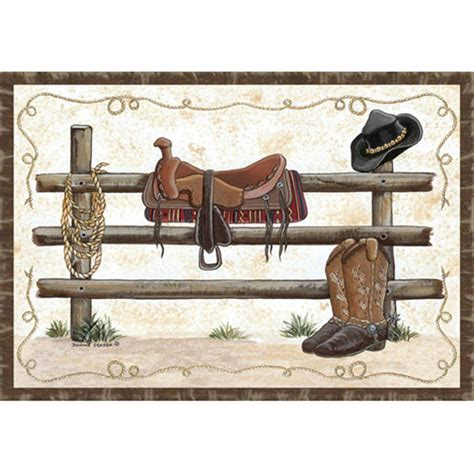western rugs custom printed rugs 37x52 quot western rug 216677 rugs at sportsman s guide