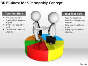 3d business men partnership concept ppt graphics icons