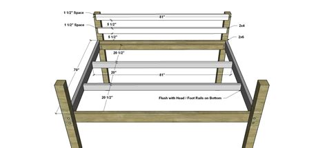 low size bed free diy furniture plans how to build a sized low