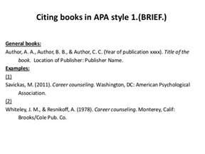 cite articles books in apa style briefbw
