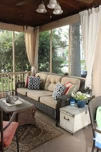 screened in porch like the idea of curtains decorate