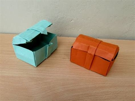 Origami Treasure Chest - origami treasure chest robin glynn doovi