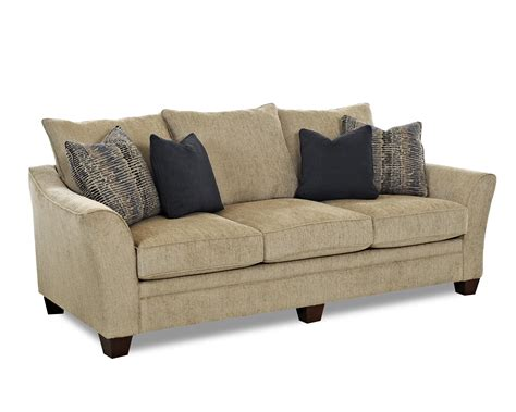 klaussner couch contemporary sofa with block feet by klaussner wolf and