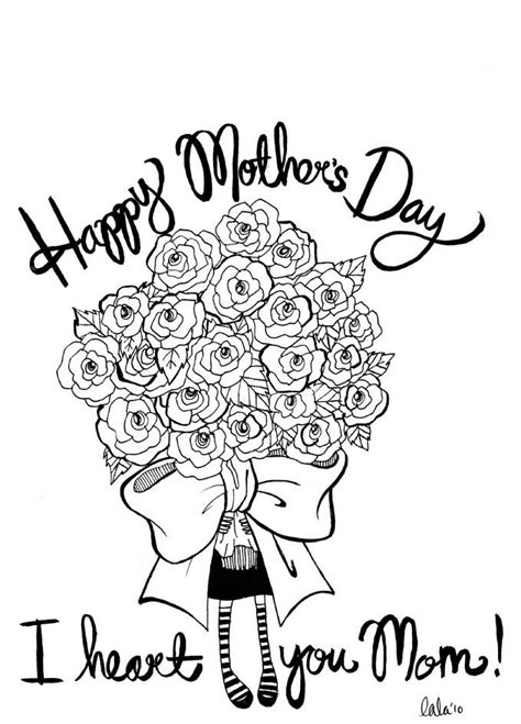mothers day pictures to color happy mothers day pictures to color draw free