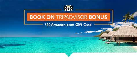 Tripadvisor Amazon Gift Card - book on tripadvisor bonus