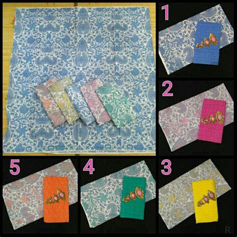 1 Set Kain Batik Print Prada Dan Embos 2 kain batik soft dan kain embos ka29 batik pekalongan by