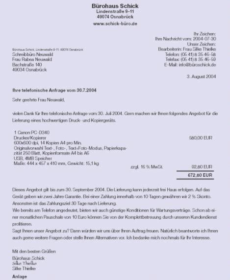 Angebot Muster Vorlagen 6 muster angebot resignation format