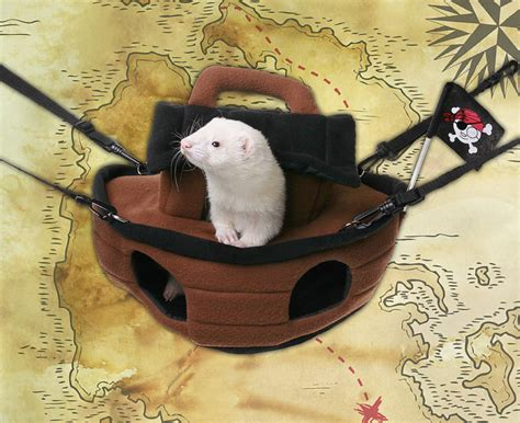 ferret beds and hammocks marshall ferret cage pirate ship bed hammock ebay
