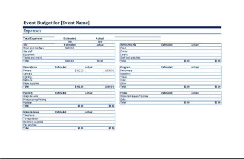 event budget template event budget template cyberuse