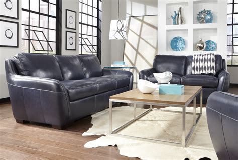 decorating leather sofa decorating a room with blue leather sofa traba homes