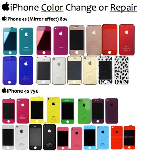 iphone 4 colors iphone 4s colours charel the iphone doc