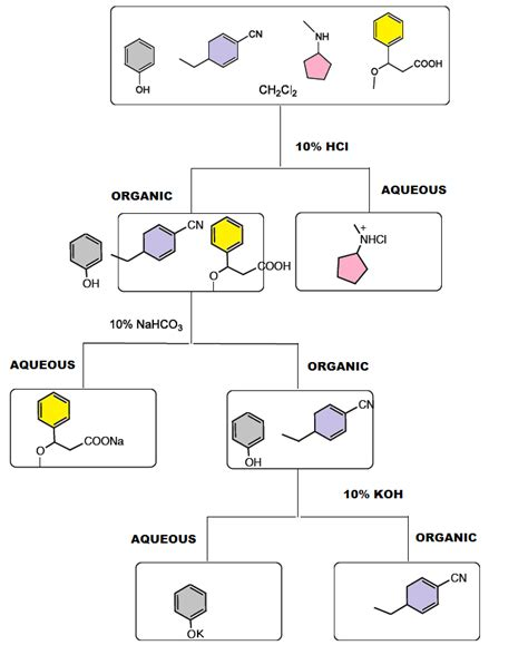 flowchart for separation of a mixture structural biochemistry organic chemistry methods of