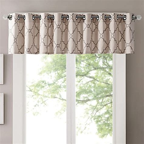bed bath and beyond saratoga buy madison park saratoga window valance in beige from bed bath beyond