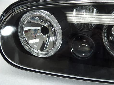 Ring Fogl Agyaayla 2 volkswagen golf r32 mk4 gti depo halo projector black headls foglights