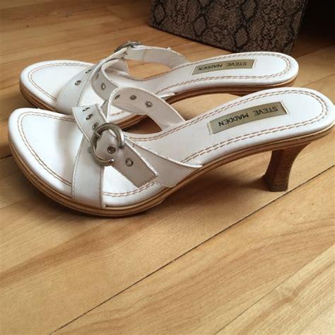 steve madden steve madden white sandals from s closet on poshmark